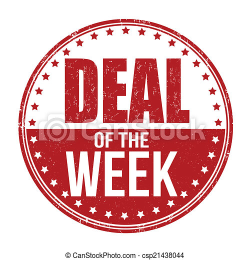 Deal of the week stamp - csp21438044