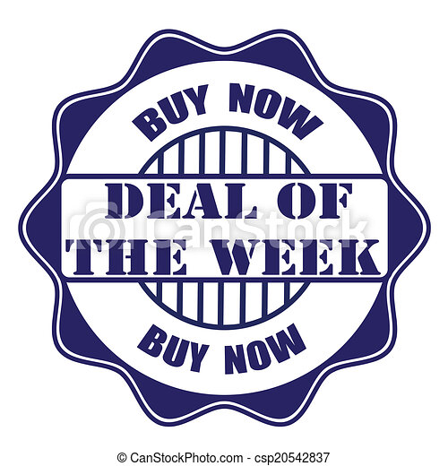deal of the week stamp - csp20542837
