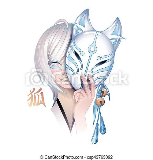 Zorro demonio japonés - csp43763092