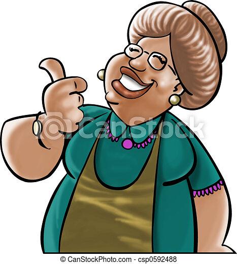 Dear grandmother - csp0592488