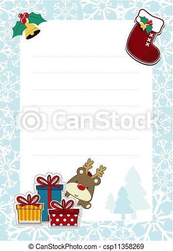 dear santa template - csp11358269