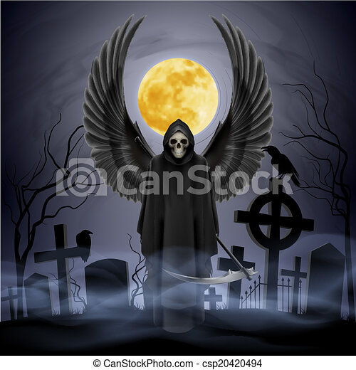 Ángel de la muerte. - csp20420494
