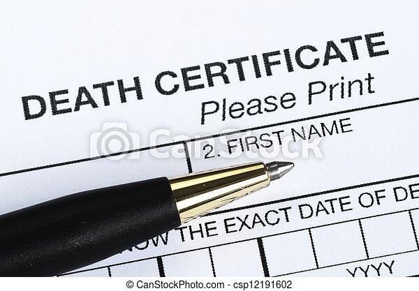 Death certificate - csp12191602