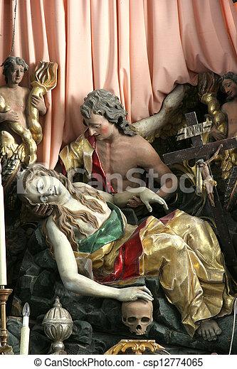 Death of Saint Mary Magdalene - csp12774065