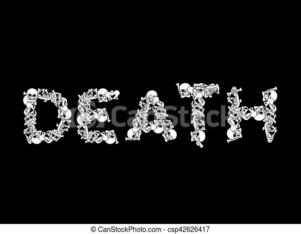 Death Typography Letters From Bones Anatomy Lettering Skull And