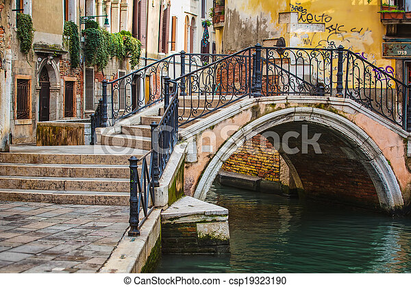 Deatil old architecture in Venice - csp19323190