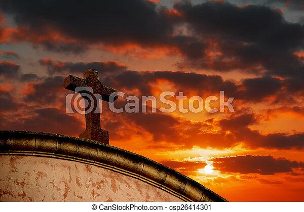 debajo, cielo, colorido, santo, cruz - csp26414301