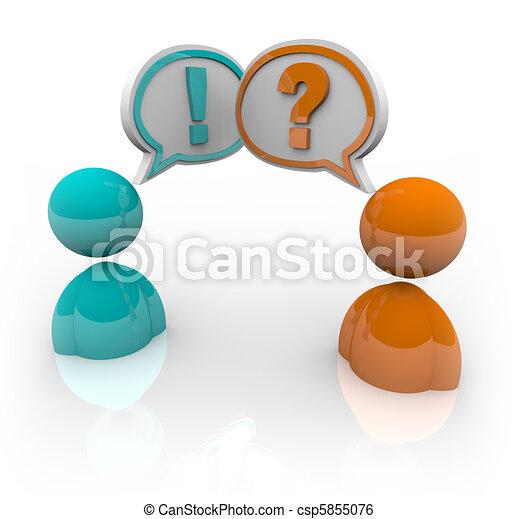 Debate - Two People Speaking Different Opitnions - csp5855076