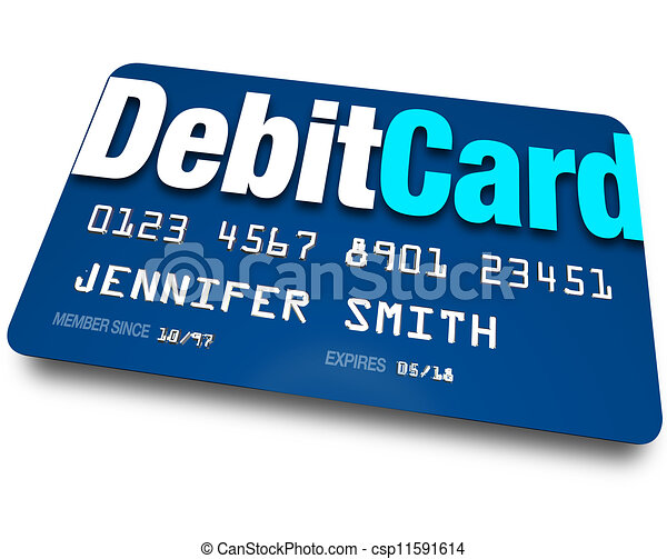 Debit Card Plastic Bank Charge Banking Account - csp11591614