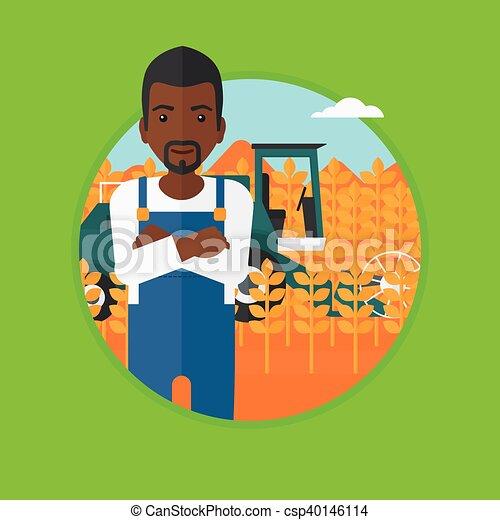 Debout Arriere Plan Combiner Homme Debout Plat Ble