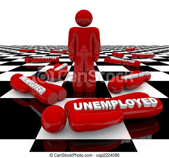 debout, -, chômage, dernier, homme - csp2224086