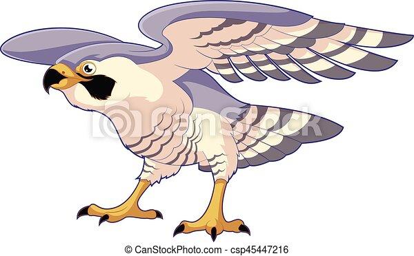 Debout faucon dessin anim debout faucon image - Dessin de faucon ...