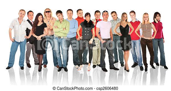 debout, groupe, gens - csp2606480