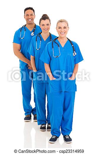 debout, monde médical, rang, groupe, équipe - csp23314959