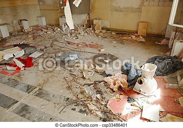 Debris pile - csp33486401