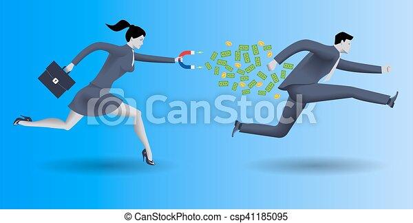 Debt collector business concept - csp41185095