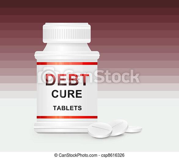 Debt cure concept. - csp8616326