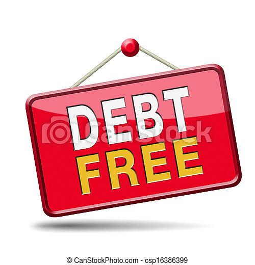debt free zone - csp16386399