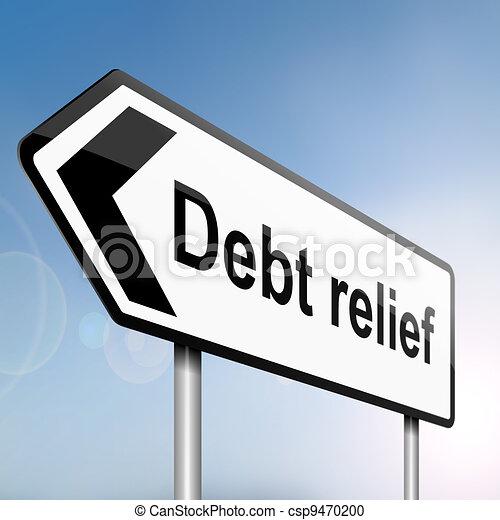 Debt relief concept. - csp9470200