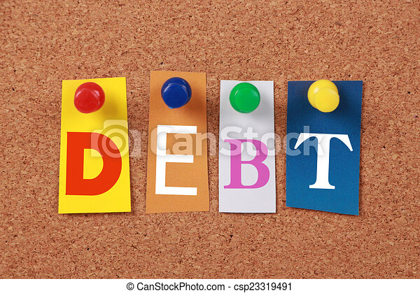 Debt Single Word - csp23319491