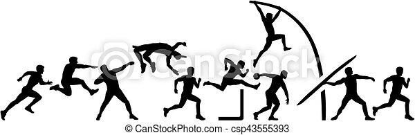Decathlon set in a line - csp43555393