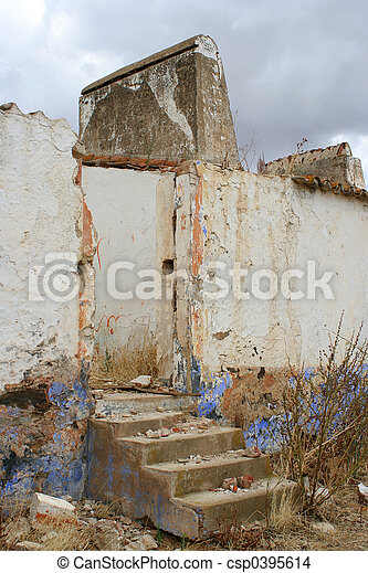 decaying building - csp0395614