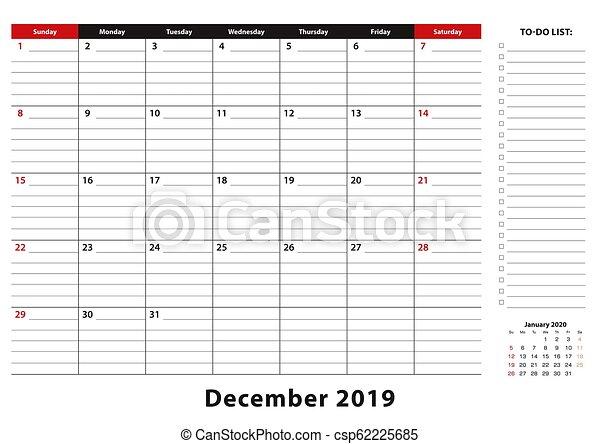 Desk-Sized December 2019 Calendar December 2019 monthly desk pad calendar week starts from sunday