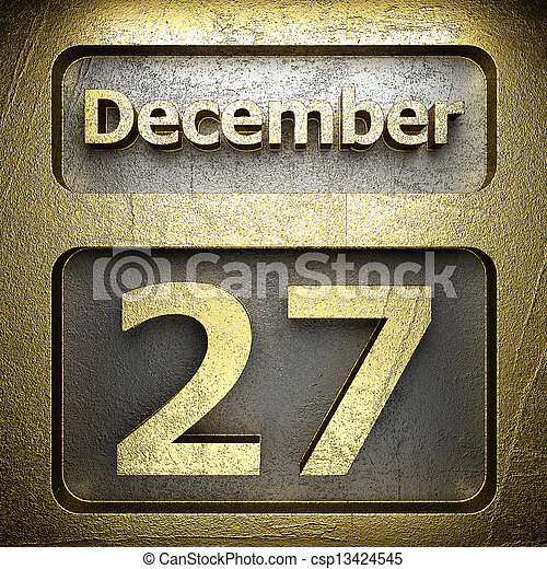 december 27 golden sign - csp13424545