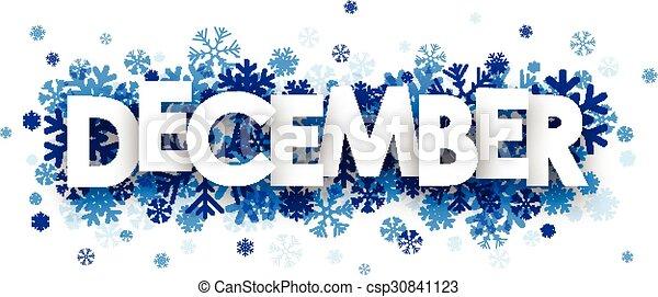 December sign. - csp30841123
