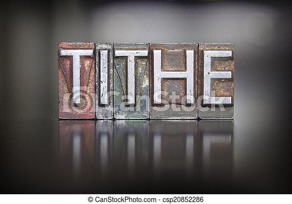 decima, letterpress - csp20852286