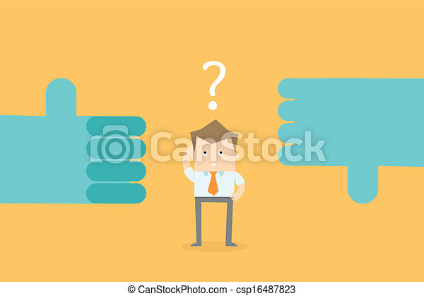 decisão negócio, carreira, fazer, confundir, opções, homem - csp16487823