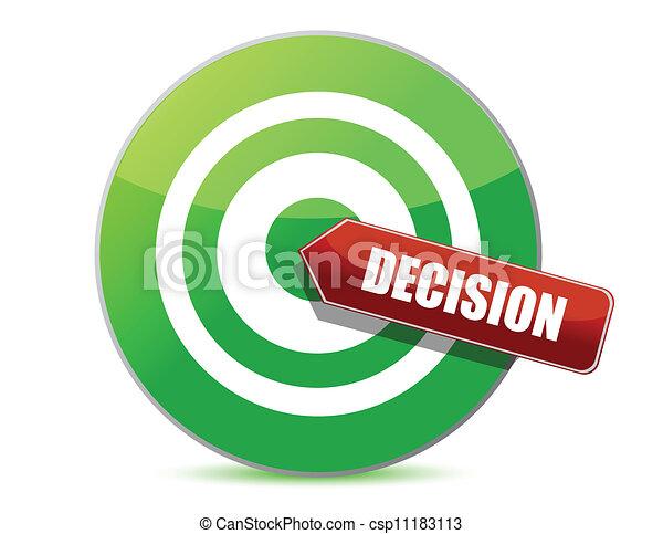 Apunta a un buen concepto de decisión - csp11183113
