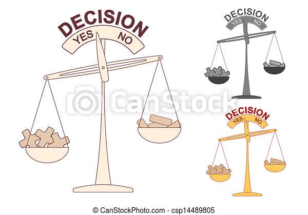 Más y menos en la escala de decisiones - csp14489805