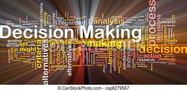 Decision making background concept glowing - csp6279567