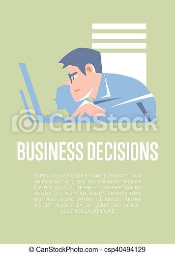 Decisiones comerciales con gente de negocios - csp40494129