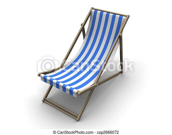 Sonnenstuhl clipart  Deck chair. 3d rendered illustration of a siple sun lounge clip ...
