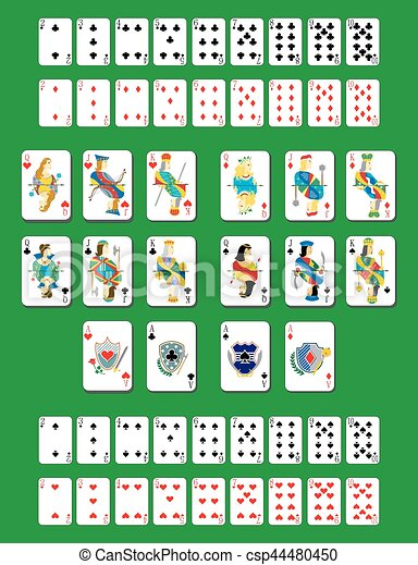 deck of cards - csp44480450