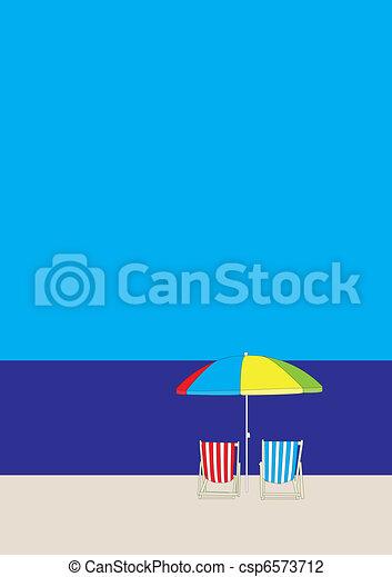 La playa del sillón - csp6573712