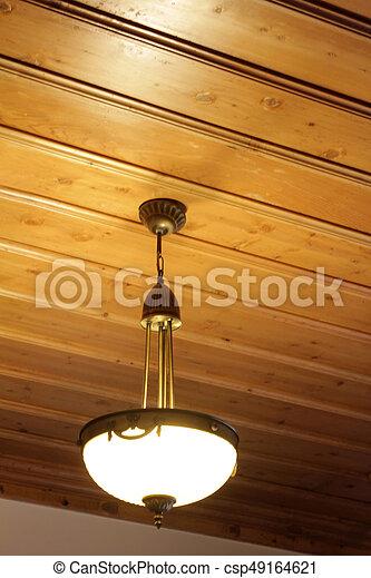 Super Decke, holz, lampe. ZX02