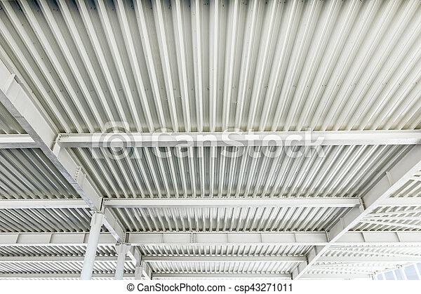 Decke, skelett, begriff, modern, metall, baugewerbe, architektur ...