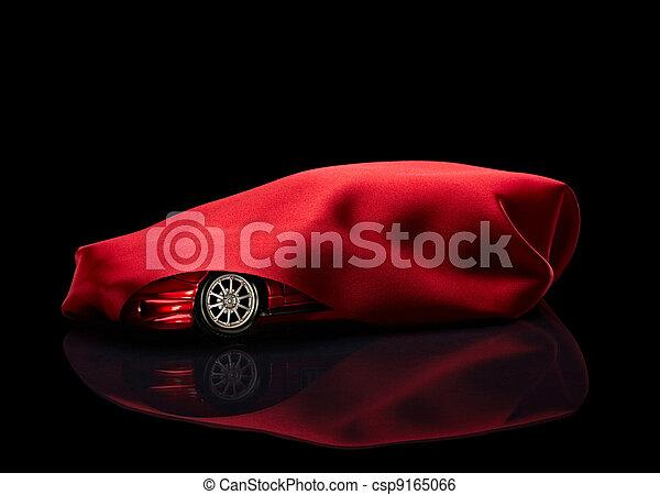 decke, versteckt, neu , rotes auto - csp9165066