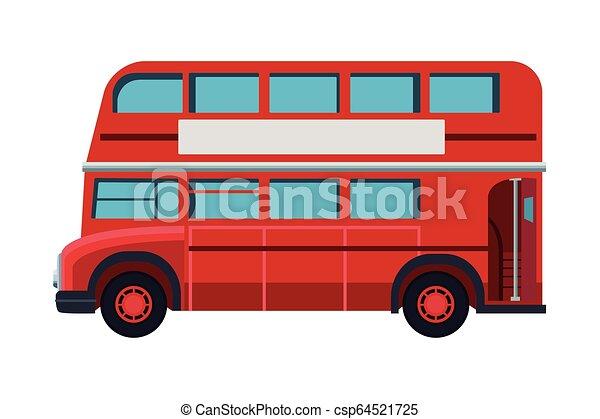 decker, doppio, londra, autobus - csp64521725