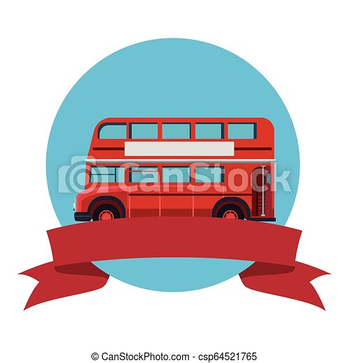 decker, doppio, londra, autobus - csp64521765