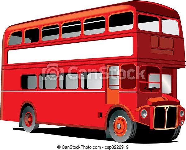 Decker double londres autobus double cadre isol autobus decker londres texte blanc ton - Image de bus anglais ...