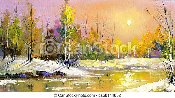 declínio, madeira, rio - csp8144852