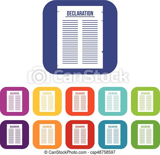 declaration of independence icons set flat declaration of eps rh canstockphoto com clipart declaration of independence scroll