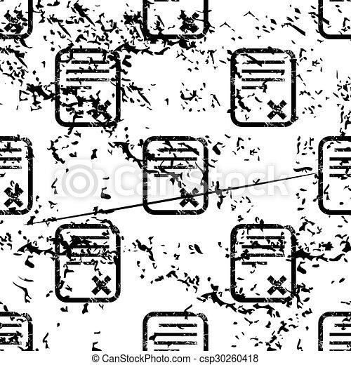 Declined document pattern, grunge, monochrome - csp30260418
