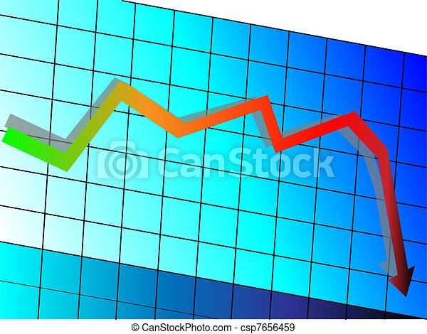 Declining graph  - csp7656459