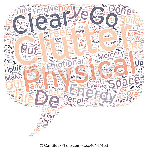 Declutter Your Life text background wordcloud concept - csp46147456