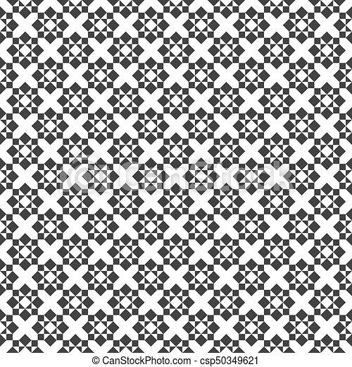 Deco Kunst Muster Abstrakt Seamless Gitter Vektor Schwarz Weisses